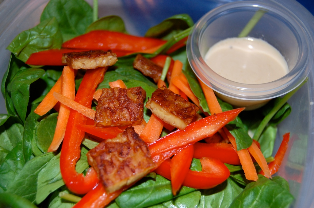 Sesame Garlic Tempeh Salad