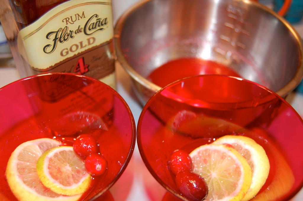 cranberry rum punch glasses