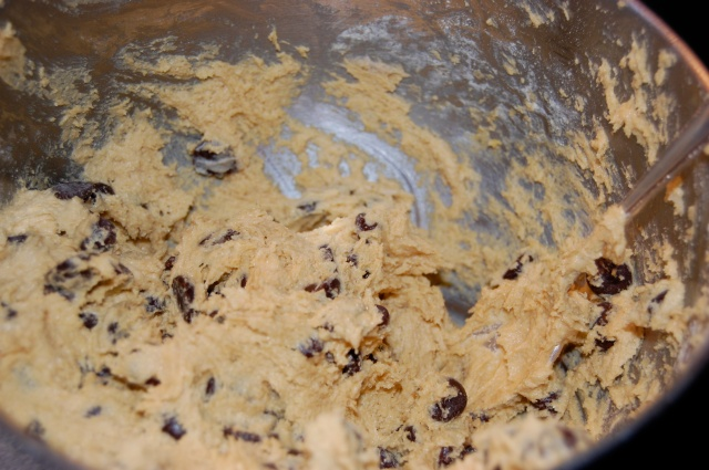 Gluten free garbanzo flour cookie dough chocolate chips