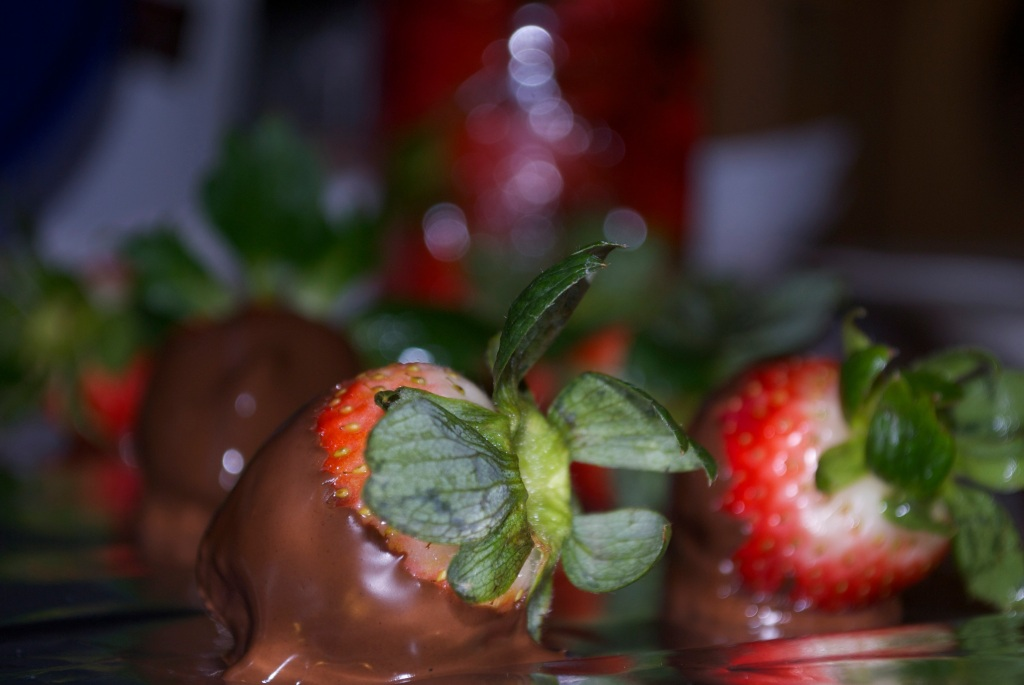 Champagne Infused Chocolate Strawberries