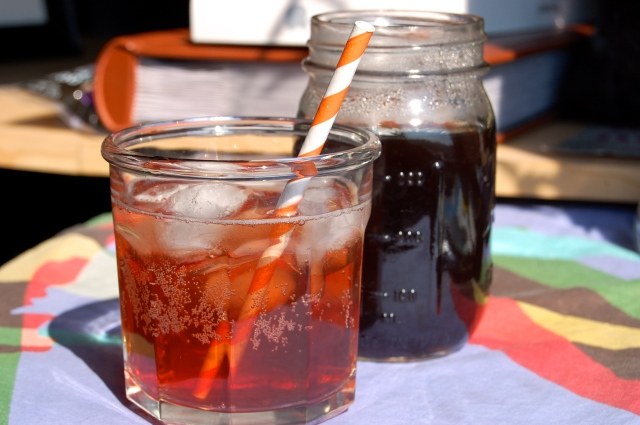 Homemade Brown Sugar Mint Fruit Soda Syrup