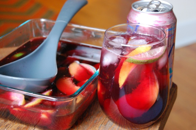 Summer Sangria Sparkler with Peaches