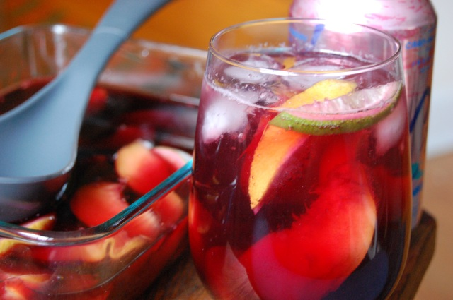 Summer Sangria with Granacha Wine and Peaches