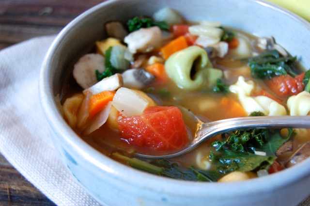 Quick and Easy Kale Tortellini Soup Recipe