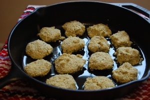 Baked Falafel using Cast Iron Pan